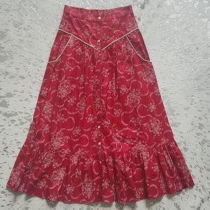 Gunne Sax Vintage Prairie Peasant Skirt